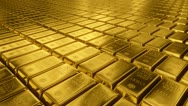 Stock Video Footage of Gold bullion goldbar treasury wealth ingot luxury finance goods trading 3D