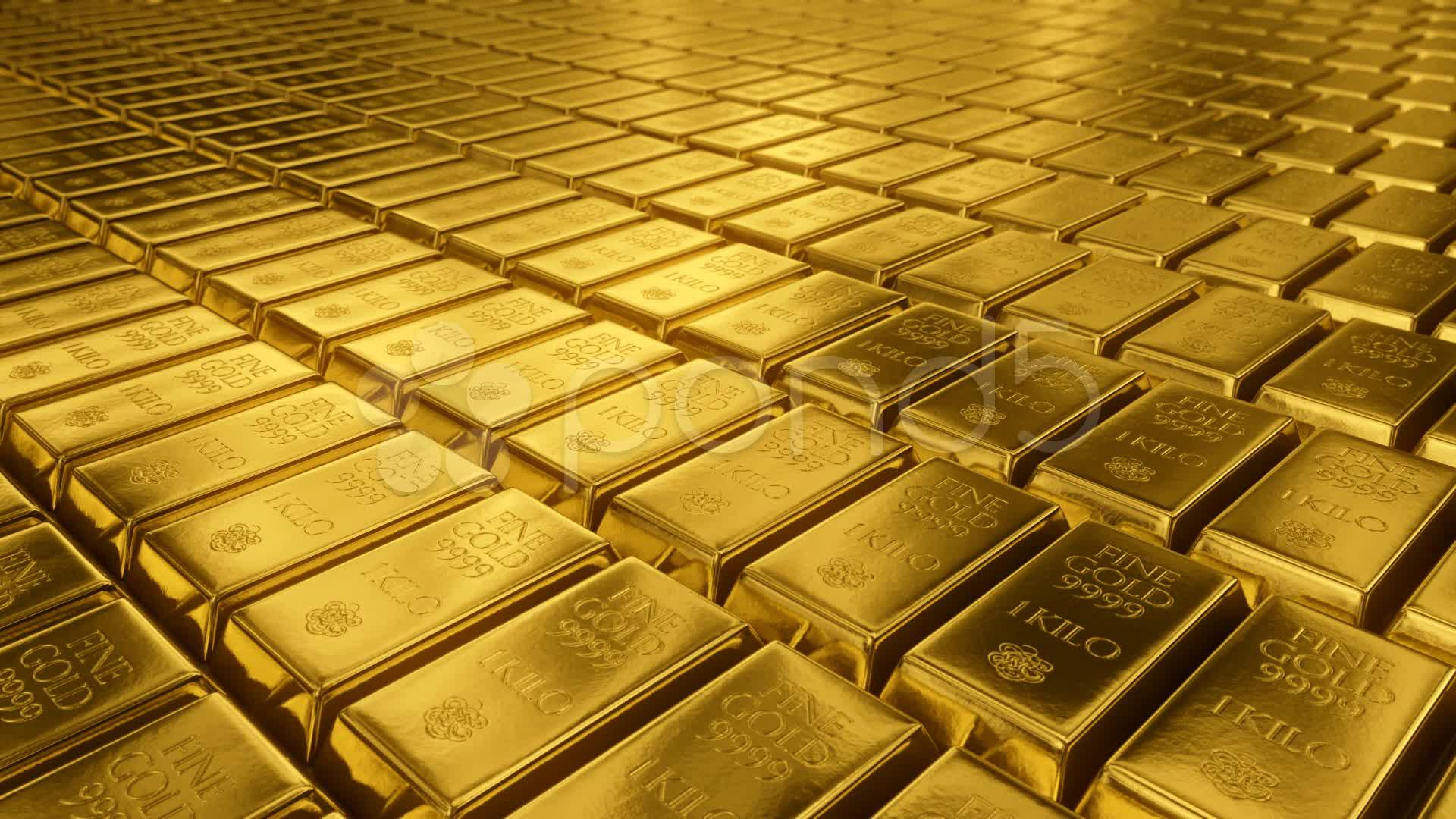 Gold Bullion Goldbar Treasury Wealth Ingot Luxury Finance