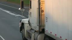 Semi truck, big rig Stock Footage