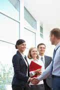 Stock Photo of image of business partners making an agreement