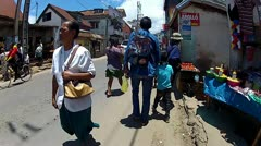People Walking in Capital City of Madagascar. Stock Footage