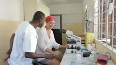 Laboratory Technicians. Tanzania. Africa Stock Footage