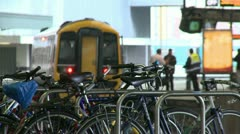 Cycle Park at Railway Station Stock Footage