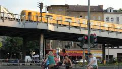 Berlin Ubahn Kreuzberg Stock Footage