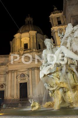 Stock photo of navona church