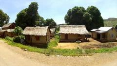 Driving through Rural Villages in Madagascar. - stock footage