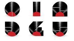 Vinyl alphabet 0 1 2 3 4 5 Stock Illustration
