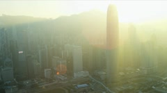 Aerial View Victoria Peak Hong Kong Stock Footage