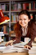 Pretty student - stock photo