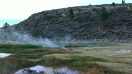 Hot Springs 21 Sunrise at Hot Creek California Stock Footage