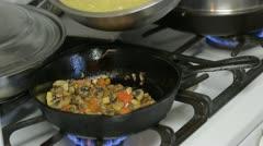 Cooking Breakfast 05 Stock Footage