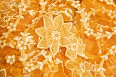 fabric with a floral pattern - stock photo