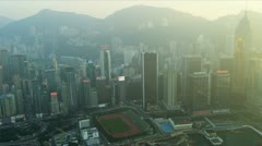 Aerial Waterfront View of Hong Kong Island  Stock Footage