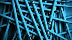 jumble of lead pencils - stock footage