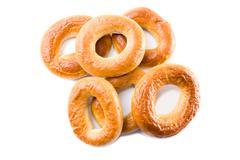 Image of tasty crispy dessert on a white background Stock Photos