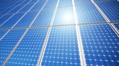Solar sustainable energy panels Photovoltaic renewable power supply system - stock footage