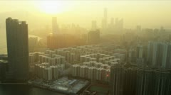 Stock Video Footage of Aerial View of Condominiums Kowloon