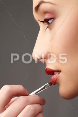 Stock photo of close-up of gorgeous female at beautician