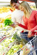At grocery store Stock Photos