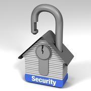 House lock security Stock Illustration