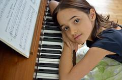 Dreamy Young Pianist - stock photo