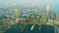 Aerial View China Ferry Terminal, Hong Kong Stock Footage