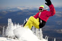 Stock Photo of portrait of sportsman training at winter