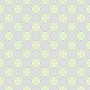 Seamless Lilac Rings on Pale Green - stock illustration