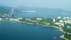 Aerial View Condominiums Stanley Bay, Hong Kong - stock footage