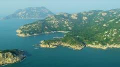 Aerial View of Island Bay Shek O Wan, Hong Kong - stock footage