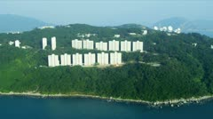 Stock Video Footage of Aerial View Condominiums Stanley Bay, Hong Kong