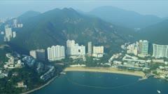 Aerial View of Repulse Bay Hong Kong Stock Footage
