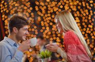 Romantic evening date Stock Photos