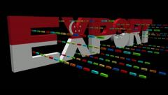 Export text with Singapore flag and containers animation - stock footage