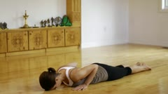 Yoga Studio Scene Stock Footage