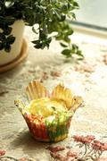 Group of cupcakes and biscuits Stock Photos