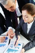 image of business people working with documents - stock photo