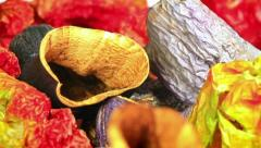 Close-up of dried food ingredients Stock Footage