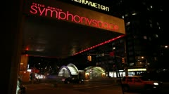 Symphony Space Exterior Stock Footage