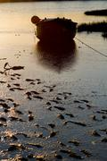 Stock Photo of early morning fishing boat