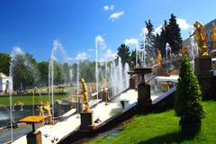 petergof park in saint petersburg russia - stock photo