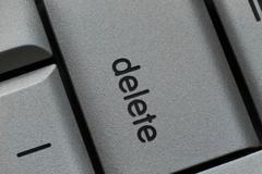 delete key - stock photo