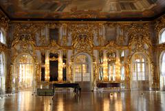 hall palace interior in pushkin - stock photo
