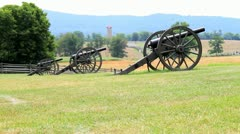 Civil War Canons Stock Footage