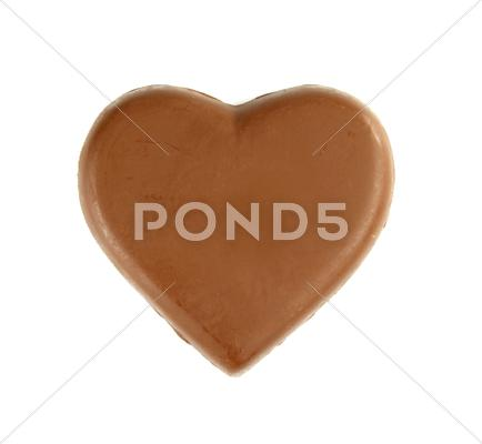 Stock Illustration of chocolate heart shape on white background