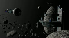 Asteroid Base Stock Footage