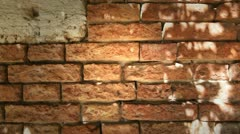 Red bricks wall Stock Footage