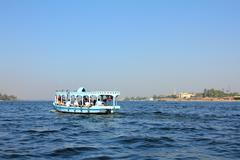 Crossing of the nile in egypt Stock Photos