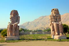 Colossi of memnon in luxor egypt Stock Photos
