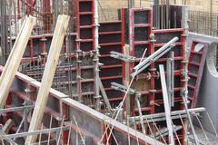 building lot detail - stock photo